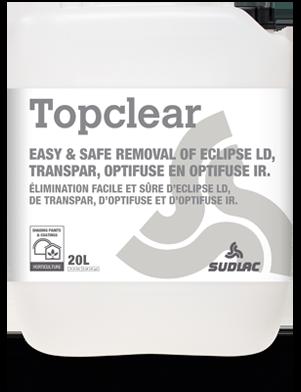 Nettoyant pour serres Topclear, élimine efficacement les peintures d'ombrage et de diffusion
