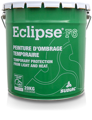 Blanc d'ombrage Eclipse F6, protection temporaire pour cultures sous serres