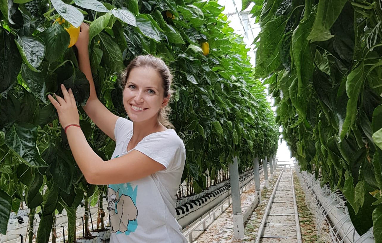 L'agronoma Georgiana Stanciu
