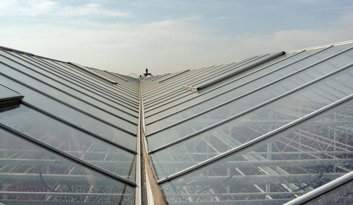 Mechanical removal of greenhouse coatings with Topclear